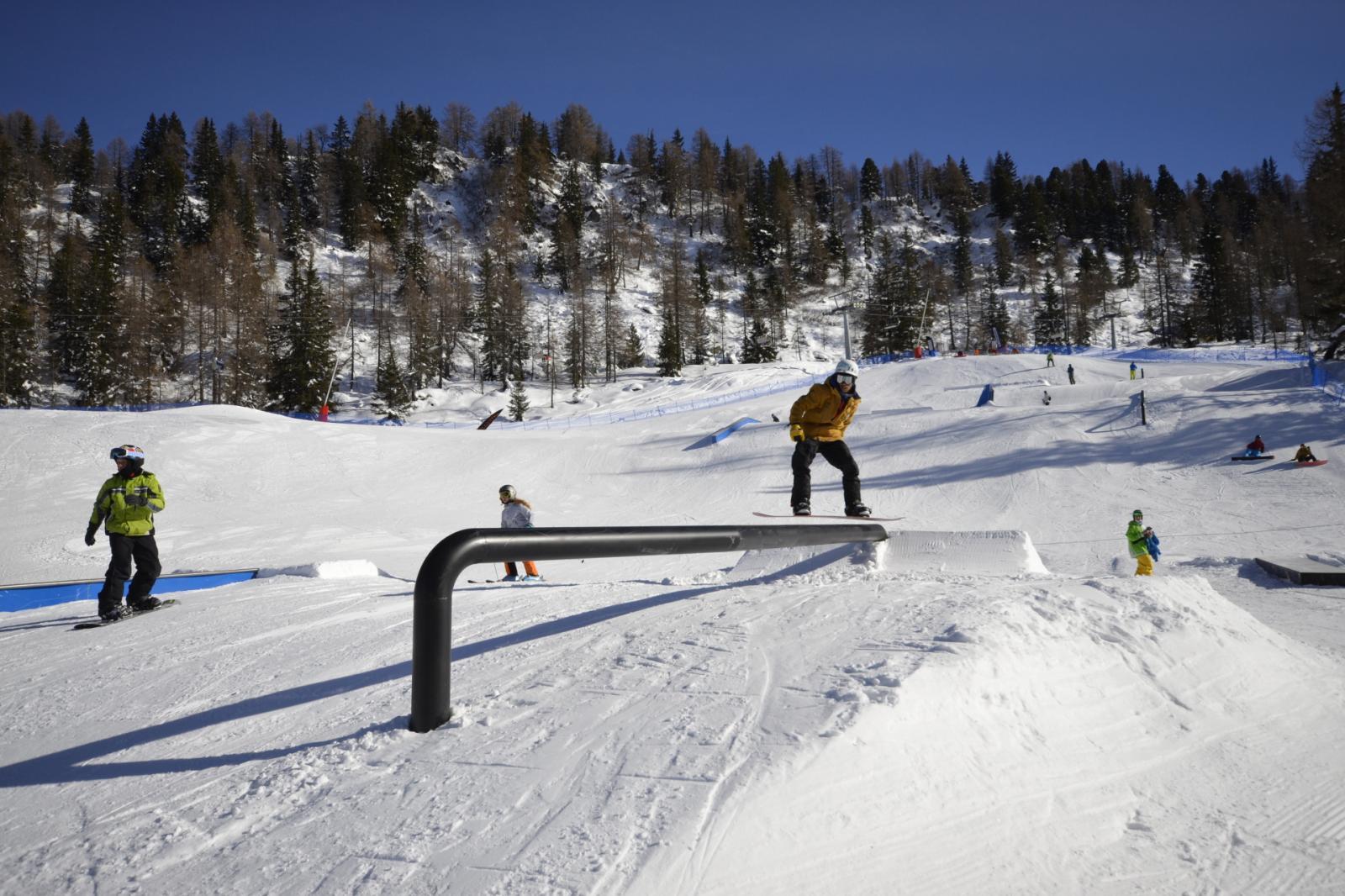 Snowpark Marilleva Rail