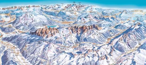 Interactive ski map